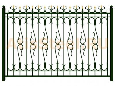 Секционный ковано-сварной забор №18