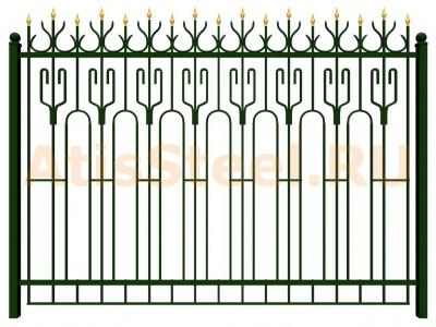 Секционный ковано-сварной забор №21