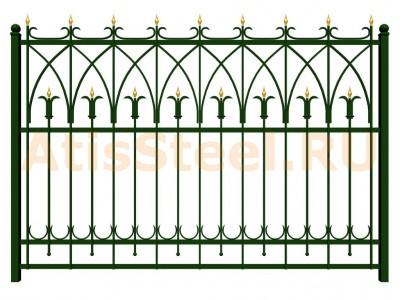 Секционный ковано-сварной забор №12