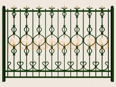 Секционный ковано-сварной забор №13
