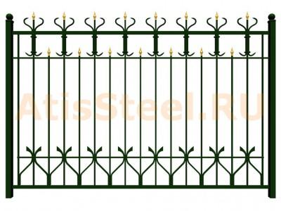 Секционный ковано-сварной забор №15