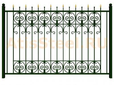Секционный ковано-сварной забор №17