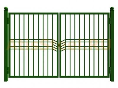 Распашные сварные ворота №16