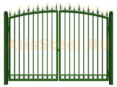 Распашные сварные ворота №20