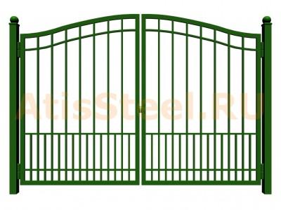Распашные сварные ворота №21