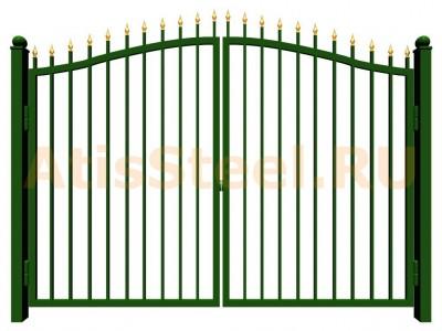 Распашные сварные ворота №22