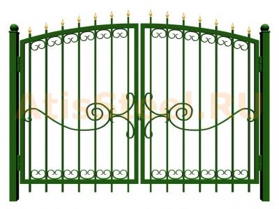 Распашные сварные ворота №25