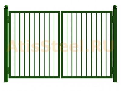 Распашные сварные ворота №7