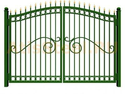 Распашные сварные ворота №34