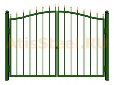 Распашные сварные ворота №8