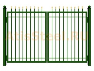Распашные сварные ворота №9