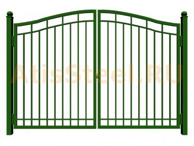 Распашные сварные ворота №10
