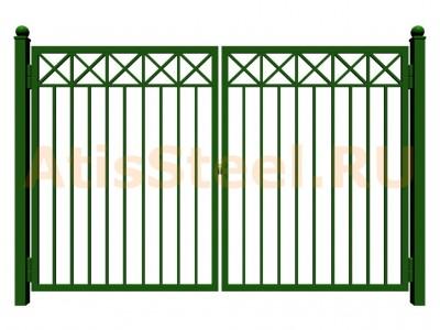 Распашные сварные ворота №11