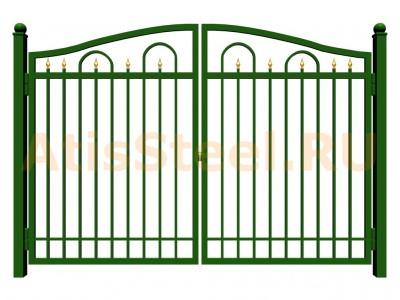 Распашные сварные ворота №13