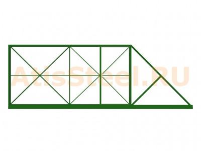 Откатные сварные ворота №11