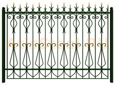Секционный ковано-сварной забор №20