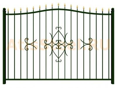 Секционный ковано-сварной забор №10