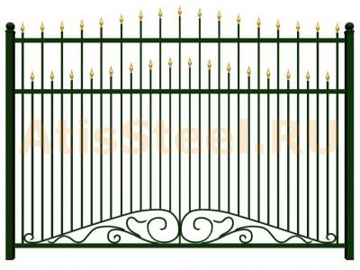 Секционный ковано-сварной забор №11
