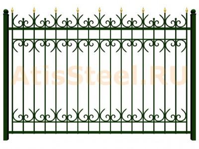 Секционный ковано-сварной забор №14