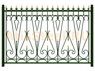Секционный ковано-сварной забор №16