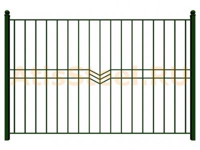 Секционный сварной забор №16