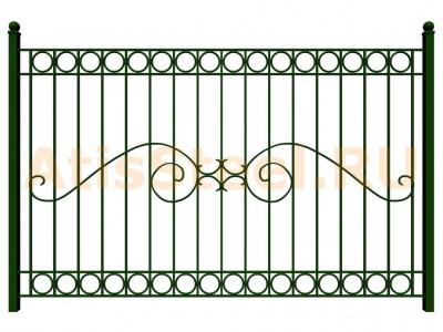 Секционный сварной забор №34