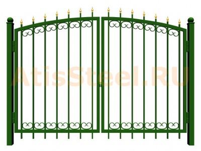 Распашные сварные ворота №24