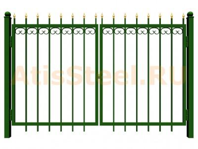 Распашные сварные ворота №27