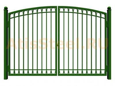 Распашные сварные ворота №28