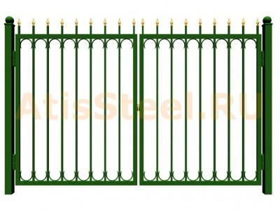 Распашные сварные ворота №29