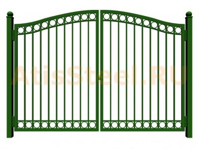 Распашные сварные ворота №30