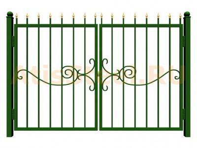 Распашные сварные ворота №31