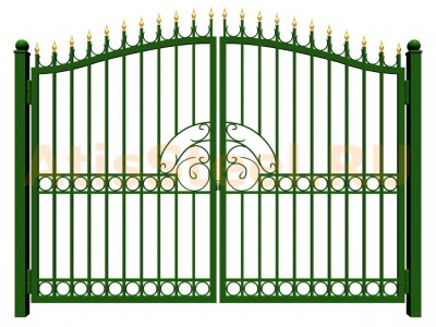 Распашные сварные ворота №36