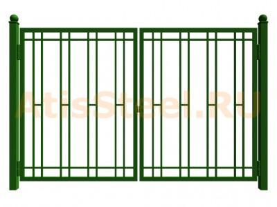 Распашные сварные ворота №12
