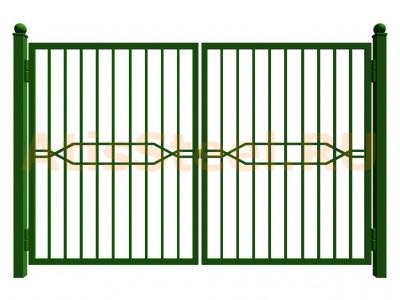 Распашные сварные ворота №15